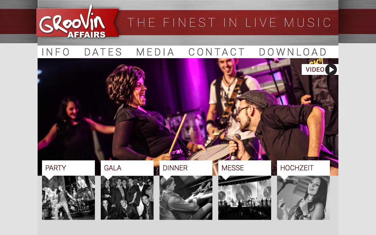 Screenshot Webseite groovinaffairs.de
